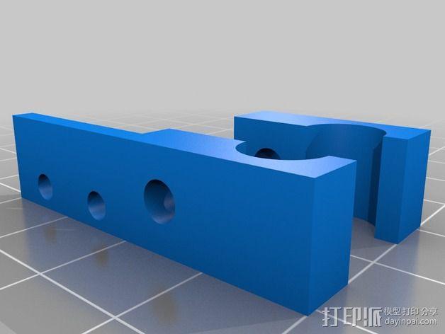 打印机Z轴限位开关支成架 3D模型  图2