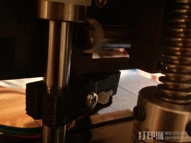 打印机Z轴限位开关支成架 3D模型  图3