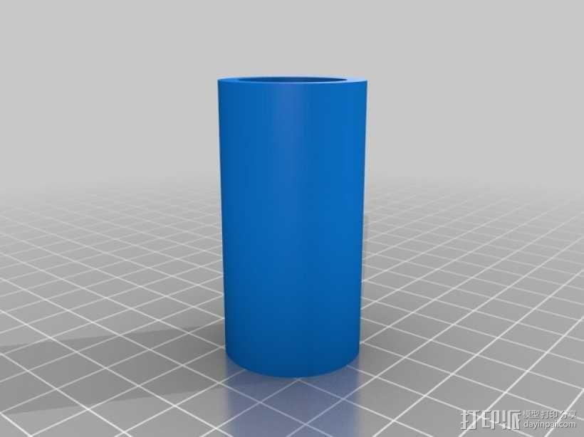 大型轴插座 3D模型  图6