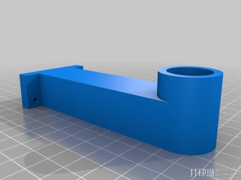 大型轴插座 3D模型  图7