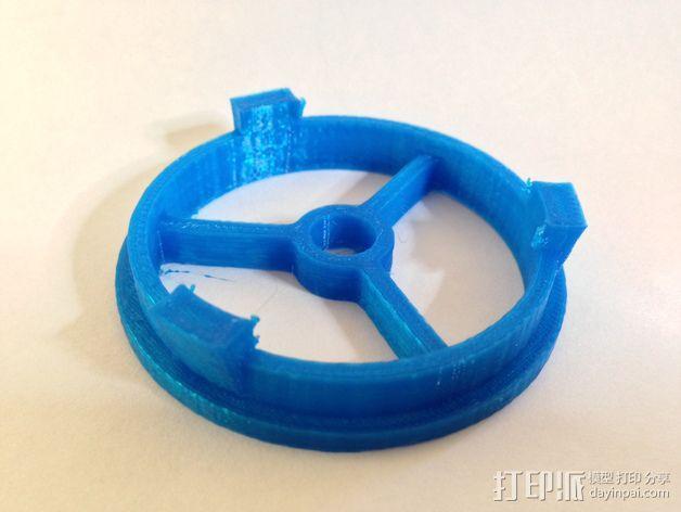 56毫米的线轴支架 3D模型  图2