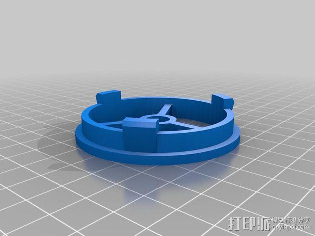 56毫米的线轴支架 3D模型  图1