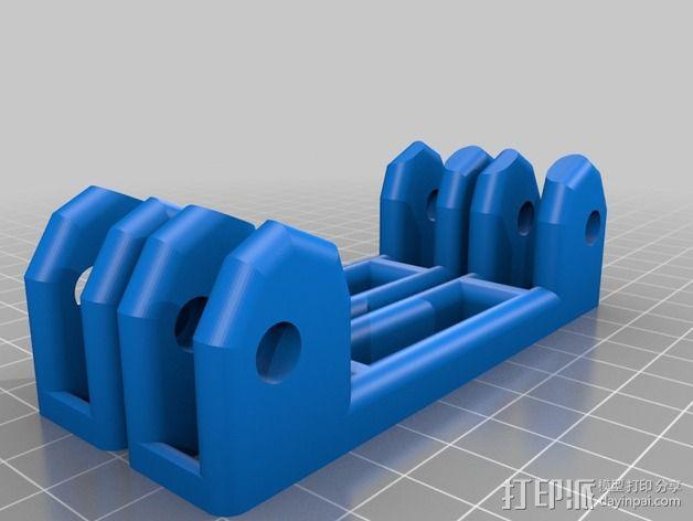 线轴滚架 3D模型  图3