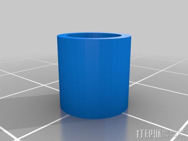 线轴滚架 3D模型  图2