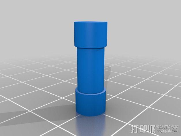 线轴滚架 3D模型  图4