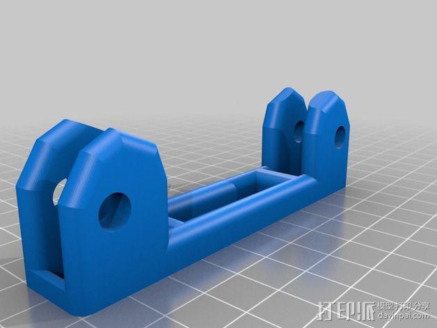线轴滚架 3D模型  图5