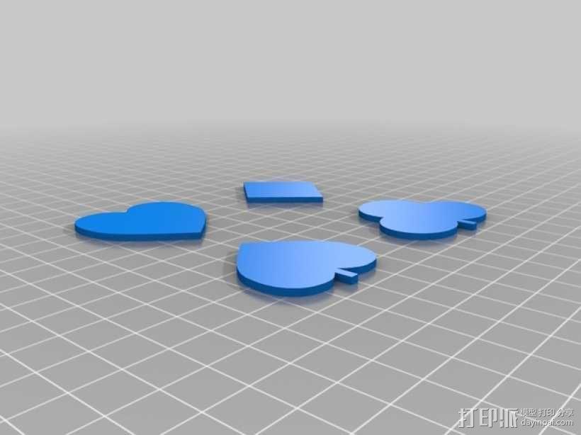 红桃 梅花 方块 黑桃3D模型 用户点评,用户使用评价 打印派