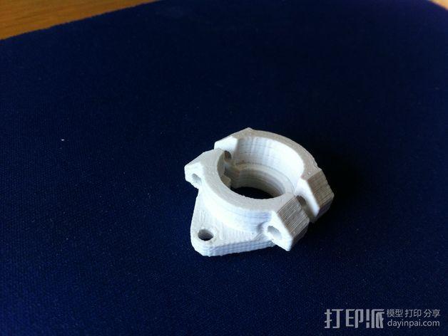 3Drag/K8200打印机喷头适配器 3D模型  图2