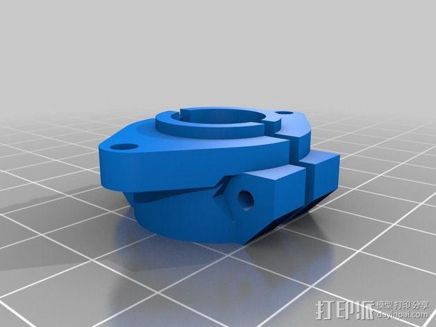 3Drag/K8200打印机喷头适配器 3D模型  图1