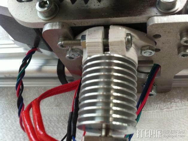 3Drag/K8200打印机喷头适配器 3D模型  图4
