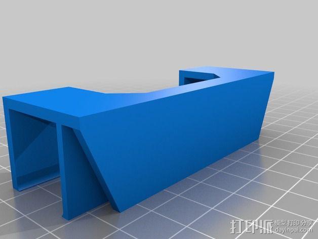 Rigidbot打印机前面板固定器 3D模型  图2