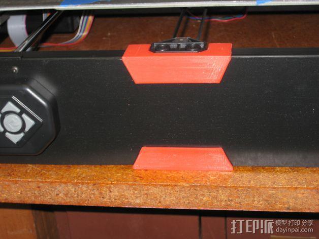 Rigidbot打印机前面板固定器 3D模型  图3