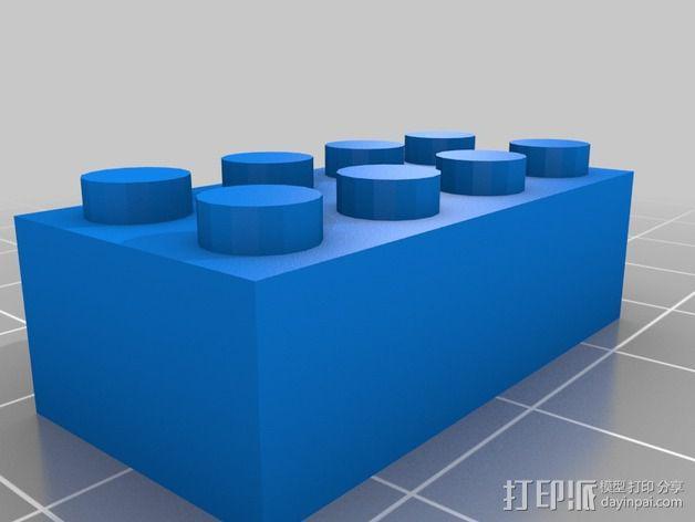 乐高积木 打印测试 3D模型  图2