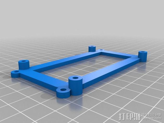 RAMPS控制主板适配器 3D模型  图1