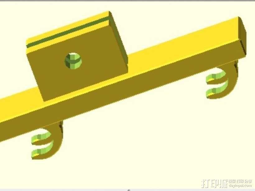 仪表盘支架 3D模型  图4