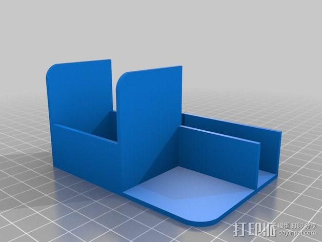 RigidBot打印机电缆插槽保护器 3D模型  图2