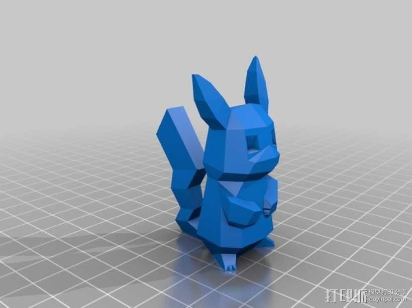 皮卡丘 3D模型  图1