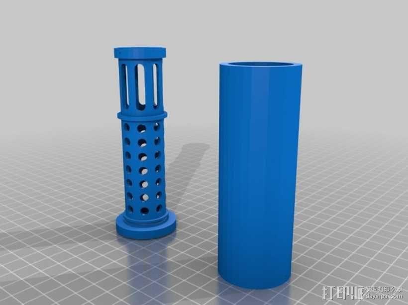消音器 3D模型  图1