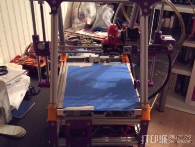 打印机X轴导螺杆连接器 3D模型  图2
