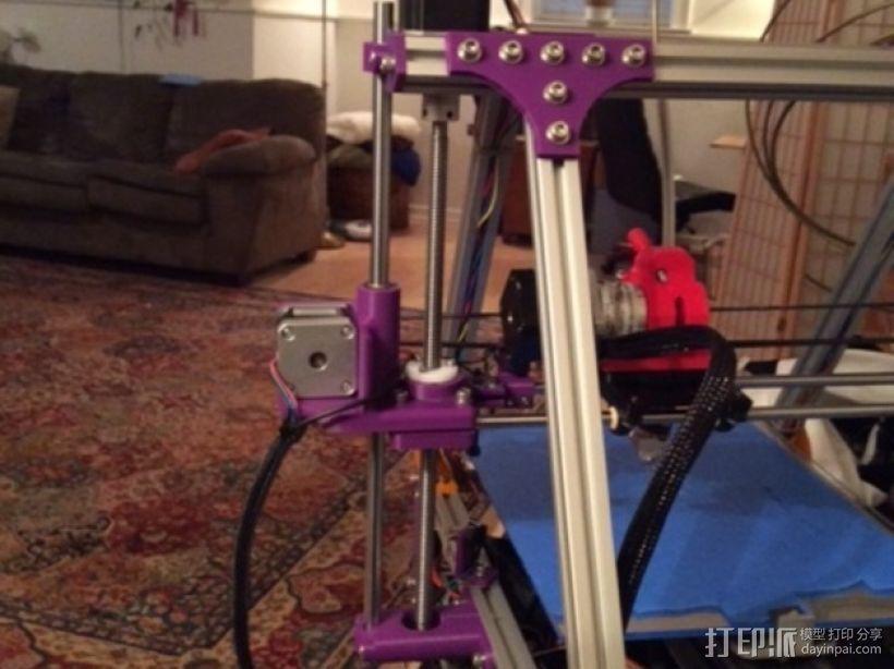 打印机X轴导螺杆连接器 3D模型  图1