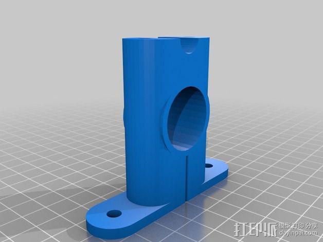 打印机X轴导螺杆连接器 3D模型  图3