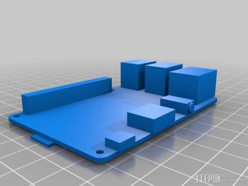 树莓派电路板保护壳 3D模型  图1