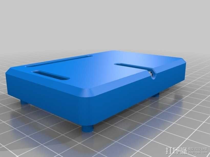 树莓派电路板保护壳 3D模型  图2