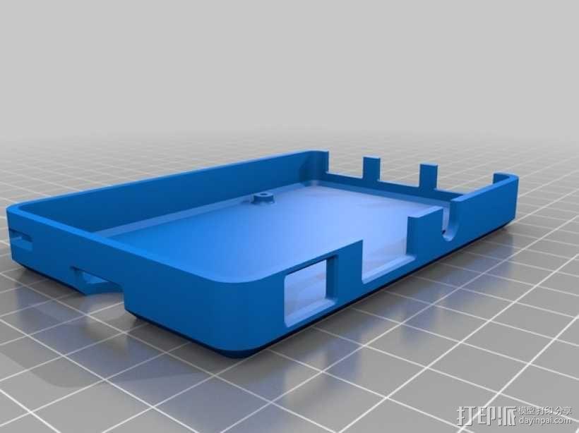 树莓派电路板保护壳 3D模型  图3