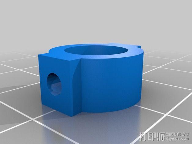 轴肩挡圈 轴环 3D模型  图2