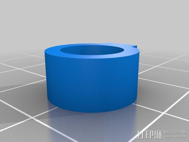 轴肩挡圈 轴环 3D模型  图3
