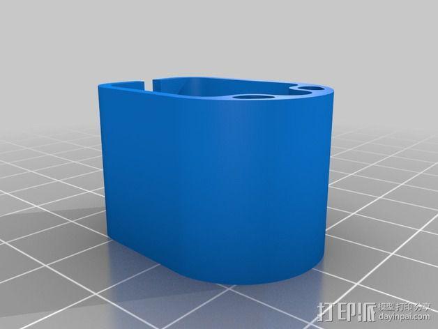 RigidBot打印机电缆夹 3D模型  图4