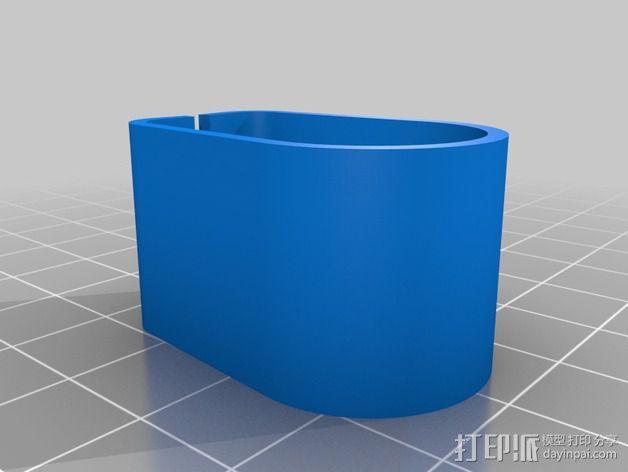 RigidBot打印机电缆夹 3D模型  图3