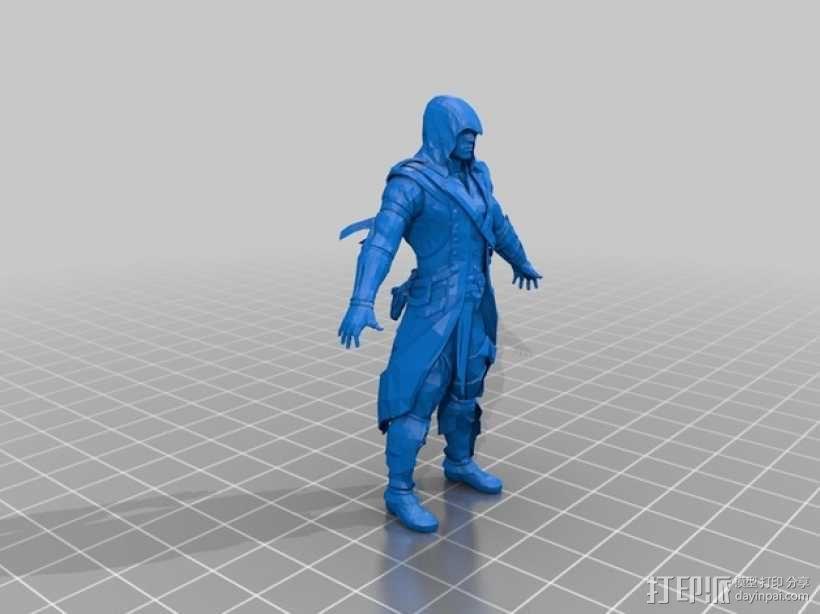 刺客信条 Connor 人物模型 3D模型  图1