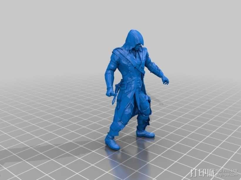 刺客信条 Connor 人物模型 3D模型  图2
