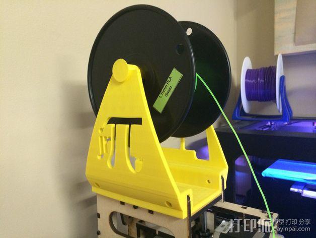 Printrbot Simple 打印机加大版线轴支架 3D模型  图1