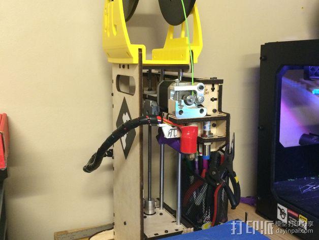 Printrbot Simple 打印机加大版线轴支架 3D模型  图5