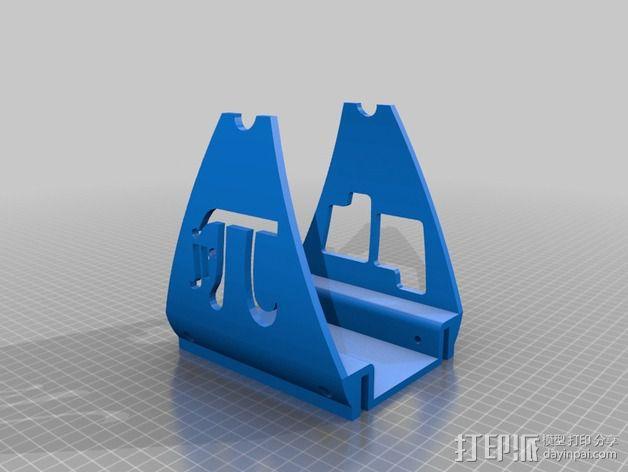 Printrbot Simple 打印机加大版线轴支架 3D模型  图3