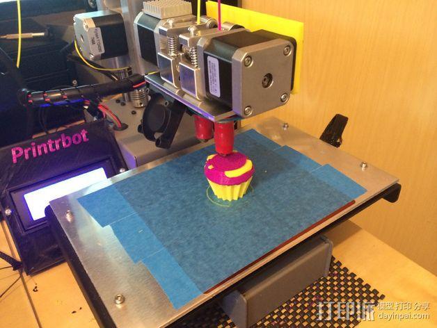 Printrbot Simple打印机金属挤出机 3D模型  图1