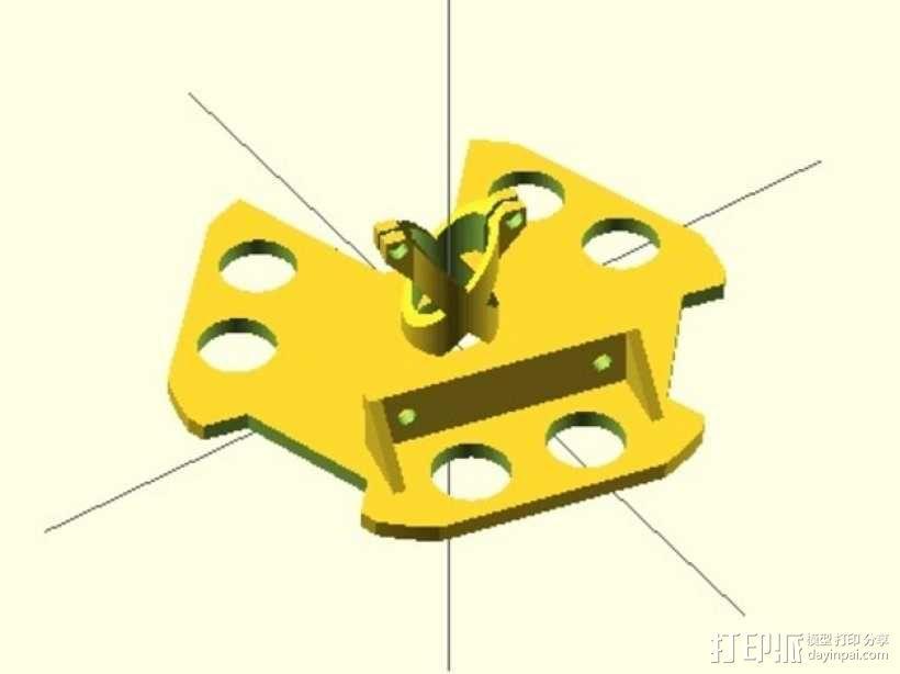 Kossel800打印机激光反应器 3D模型  图1
