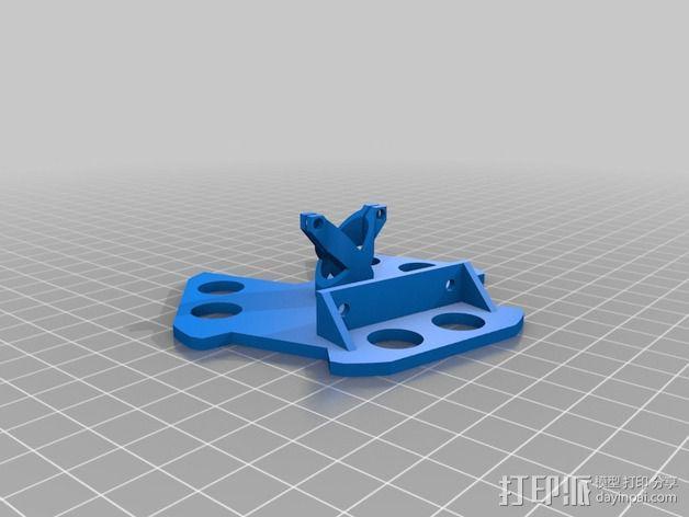 Kossel800打印机激光反应器 3D模型  图2