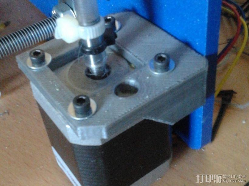 打印机Z轴马达支架 3D模型  图1