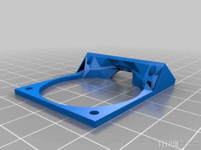Robo3D打印机风扇支架 3D模型  图1