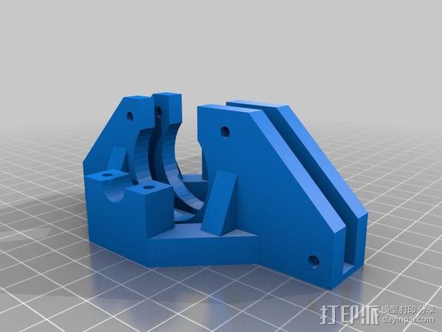 Prusa i3打印机框架撑脚 3D模型  图1