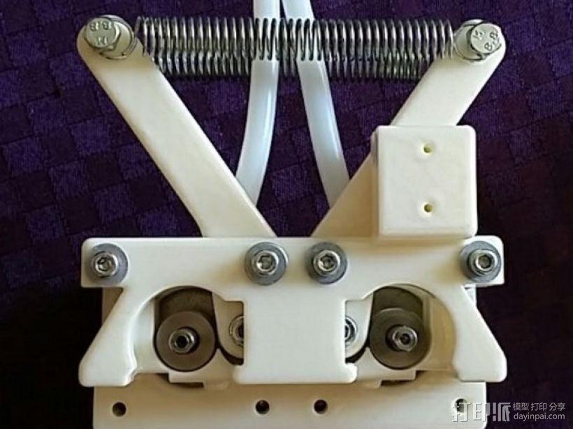 弹簧受压式双挤出机 3D模型  图1