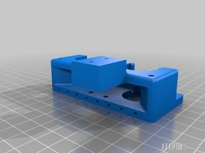 弹簧受压式双挤出机 3D模型  图2