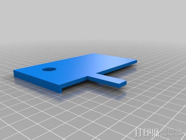 打印床镜架 托架 3D模型  图5
