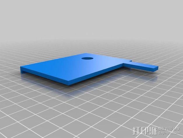打印床镜架 托架 3D模型  图4