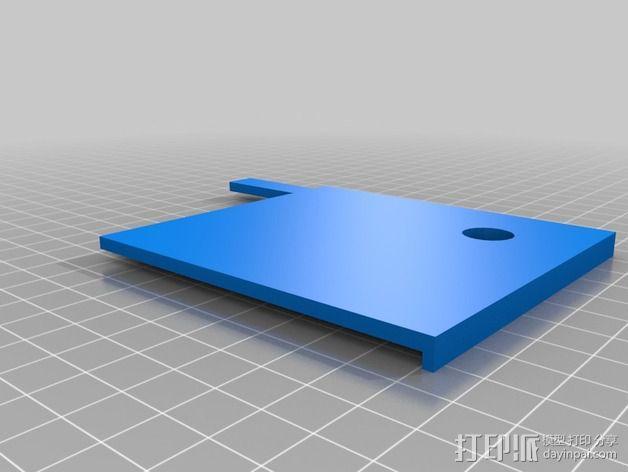 打印床镜架 托架 3D模型  图6