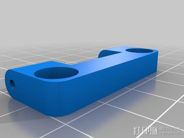 直线驱动挤出机风扇支架 3D模型  图4