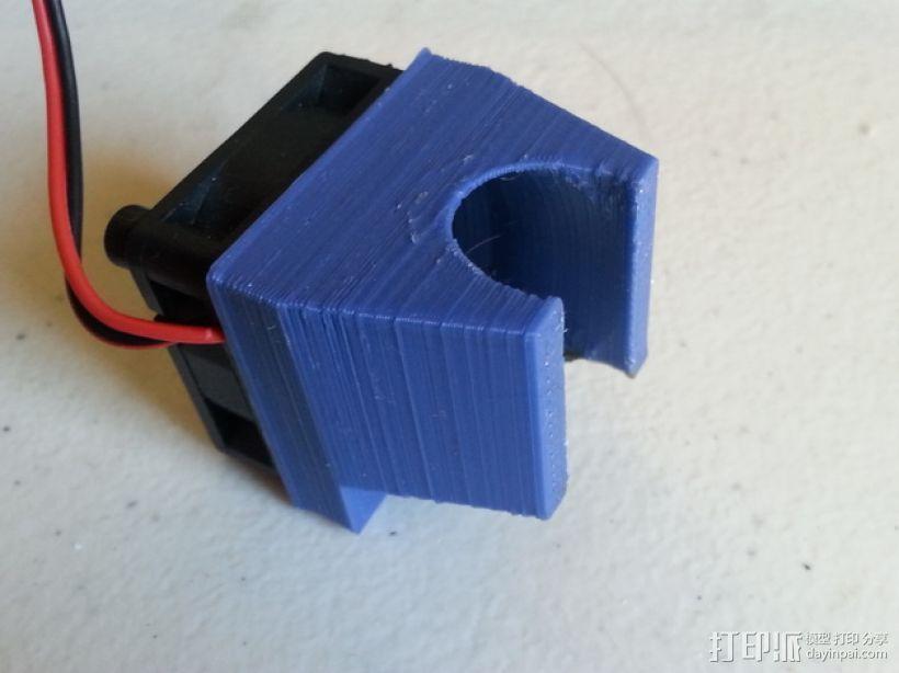 打印机喷头风扇罩 3D模型  图1